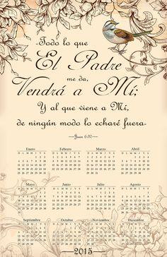 Palabra de Verdad - Calendario 2015 /Frases ♥ Cristianas ♥