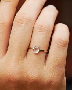 Moonstone Engagement Ring, 14k Gold Ring, Promise Ring, Rainbow Moonstone Ring, Delicate Ring, Hammered Ring, Gemstone Ring, Wedding Ring http://etsy.me/2CSlR4U