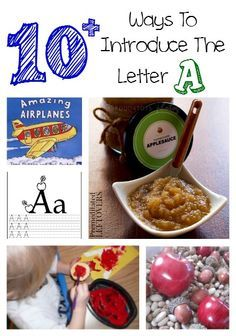 10+ Ways to Introduce the Letter A - Here are some fun ways to teach your child about the letter A including crafts, printables, activities, and recipes.