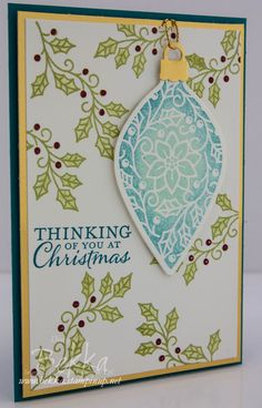 Embellished Ornaments - Get this must have Stampin' Up! UK stamp set here