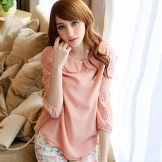 Buy 'Tokyo Fashion – Cutout-Sleeve Chiffon Blouse' at YesStyle.com plus more Taiwan items and get Free International Shipping on qualifying orders.