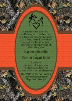 awesome 11 mossy oak camo wedding invitations | Wedding Ideas ...