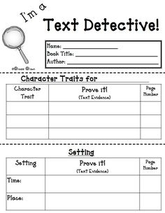 "a Text Detective!"" {FREE Reading Response Mini-booklet} Free graphic organizer: I'm a Text Detective {FREE Reading Response…Free graphic organizer: I'm a Text Detective {FREE Reading Response… Reading Strategies, Reading Skills, Guided Reading, Reading Comprehension, Free Reading, Reading Groups, Close Reading Lessons, Comprehension Worksheets, Reading Worksheets"