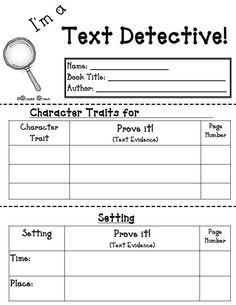 "The Best of Teacher Entrepreneurs: FREE LANGUAGE ARTS LESSON - ""I'm a Text Detective!"" {FREE Reading Response Mini-booklet}"""