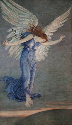 The Angel of Peace by Walter Crane, 1900. ~via fleurdulys