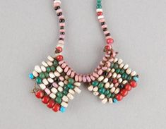 Personal ornament/necklace made of fibre, beads (glass). Necklace Types, Beaded Necklace, Necklaces, Xhosa, African Trade Beads, British Museum, Love Letters, African Art, Corsets