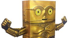 C3PO paper craft centerpiece for Star Wars Party