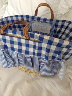 basket liner inspiration  Fabulous Fifi.Beautiful Basket liners. #Basket liner #Liner #Basket #wicker basket