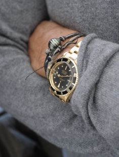 Shirt, and watch very common; bracelet would only be worn if it was a gift from someone special