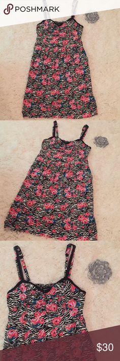 """Torrid Rose Sleeveless Dress Torrid Rose Sleeveless Dress.  In excellent condition.  Bust 40"""" Length 39"""" torrid Dresses"""