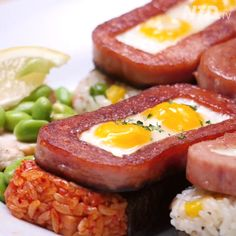Spam and quail eggs onigiri 夏威夷午餐肉飯糰