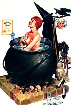#halloween #pinup #pinups #art #pinupart #witch #pot