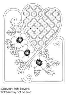 ME ~Use Pretty paper as back ground for heart or embossed paper.....Free Pattern 23