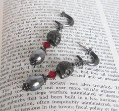 Gothic Sugar Skull Earrings. Gothic. Dia De Los by CamilleLaLune
