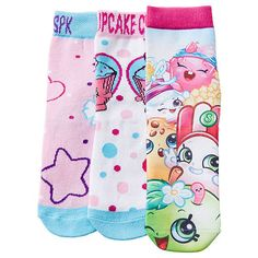 3 Pack Shopkins Socks