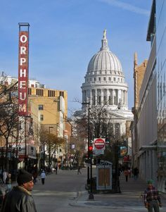 State Street in Madison, Wisconsin.