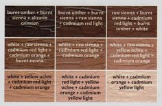 Flesh Tone cheat sheet