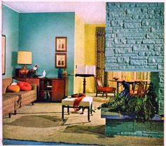 Living Room, 1958, from Sherwin-Williams Home Decorator and How-to-Paint Book