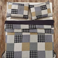 Features:  -Ethan collection.  -Patchwork.  -Hand quilted and machine pieced…                                                                                                                                                                                 More