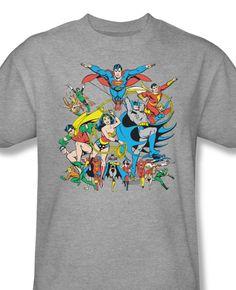 cdb1006f9 DC Legends Retro Superhero friends Superman Batman Wonder Woman DCO112 - T- Shirts, Tank