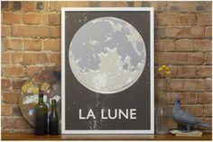 double merrick - la lune screenprint.