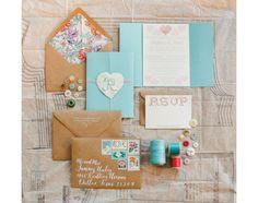 Creatively Displayed Wedding Invitations ~  we ❤ this! moncheribridals.com #weddinginvitations