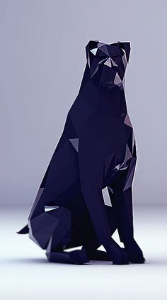 Low-poly collection for Threeav.fr by Thomas Colin, via Behance