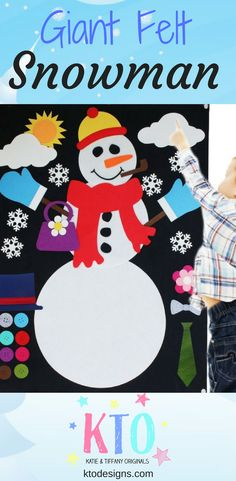 Felt Snowman, Frosty The Snowmen, Snowman Crafts, Snowman Party, Toddler Themes, Toddler Activities, Educational Activities, Preschool Crafts, Fun Crafts