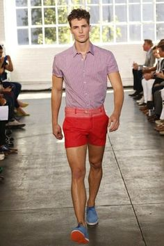 Parke & Ronen Men's Spring 2014 Runway | Out Magazine.  Love the color combo!