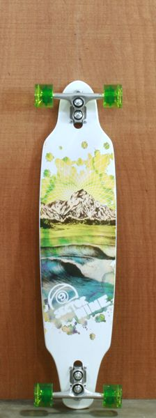"Sector 9 38"" Mtn Peaks Blue Longboard Complete @Allie Fowler"