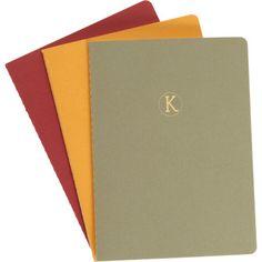Connor Monogrammed 'K' Notebook Set Sale up to 70% off at Barneyswarehouse.com