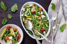 The Bojon Gourmet: Green, Yellow, and Romano Bean Salad with Sweet Corn and Feta