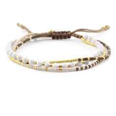 Chan Luu - White Mix Multi Strand Single Bracelet, $45.00 (http://www.chanluu.com/bracelets/white-mix-multi-strand-single-bracelet/)