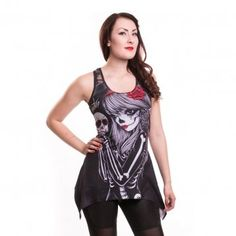 TOPPI/TUNIKA - CROW GIRL LACE PANEL VEST(CC505) - VIXXSIN XL 25e (Stuntman)