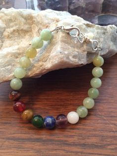 A personal favorite from my Etsy shop https://www.etsy.com/ca/listing/292872857/jade-chakra-bracelet-with-silver-plated