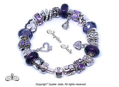60bf45dea NEW Authentic Pandora 925 Silver Charm Bracelet w European Faceted Glass,  Hearts, 18k Gold
