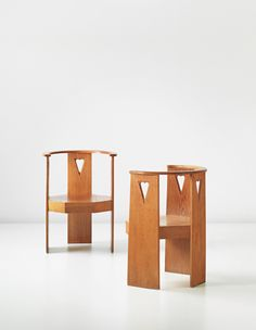 Eliel Saarinen, Pair of office chairs, designed for the State Railways Administration Building, Helsinki