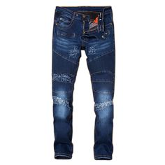 Men's Brand Jeans Straight Denim Fashion Hip Hop Jeans Slim fit denim Pants overall Brands Street jean homme Biker Jeans
