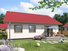DOM.PL™ - Projekt domu ARD Rumianek 1 paliwo stałe CE - DOM RD1-70 - gotowy koszt budowy Places To Visit, Cottage, Outdoor Decor, House, Outdoors, Home Decor, Houses, Projects, Decoration Home