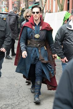Benedict BTS of Doctor Strange, filming in New York...