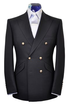 The Morgan Classic Navy Double Breasted Blazer from William Hunt Savile Row 8e2a98a8007e