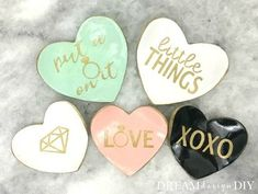 diy clay heart trinket dishes