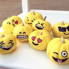 How To DIY Emoji Pumpkins #pumpkins #emoji #diy #howto #emojis