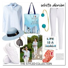 """""""#whitejeans"""" by bellamonica ❤ liked on Polyvore featuring rag & bone, Reebok, Alexander Wang, Illesteva, WALL, SOPHIE by SOPHIE, Marc Jacobs and whitejeans"""