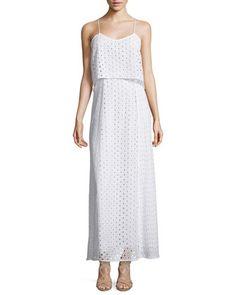 Melody Layered Eyelet Maxi Dress, Blanc by Catherine Catherine Malandrino at Neiman Marcus Last Call.