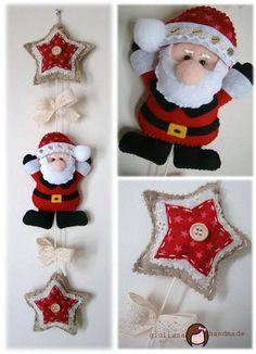 movil Felt Christmas Decorations, Felt Christmas Ornaments, Christmas Makes, Christmas Fun, Diy Projects Handmade, Holiday Crafts, Holiday Decor, Christmas Accessories, Christmas Sewing
