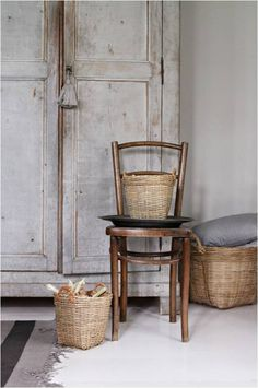 never too many rustic baskets
