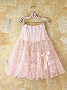 Vintage Pink Lace and Mesh Skirt