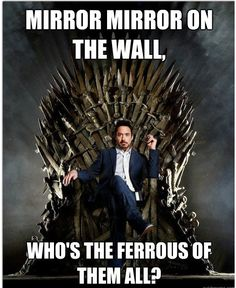 Perfection, and the pun's not bad either. Interesting, a Stark did end up on the iron throne...