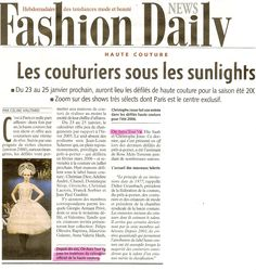 Fashion Daily News 20 01 2006 Couture by on aura tout vu